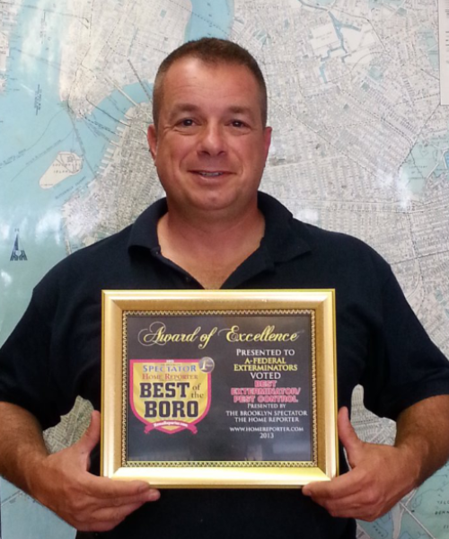 owner best of boro award afederal exterminating brooklyn nyc